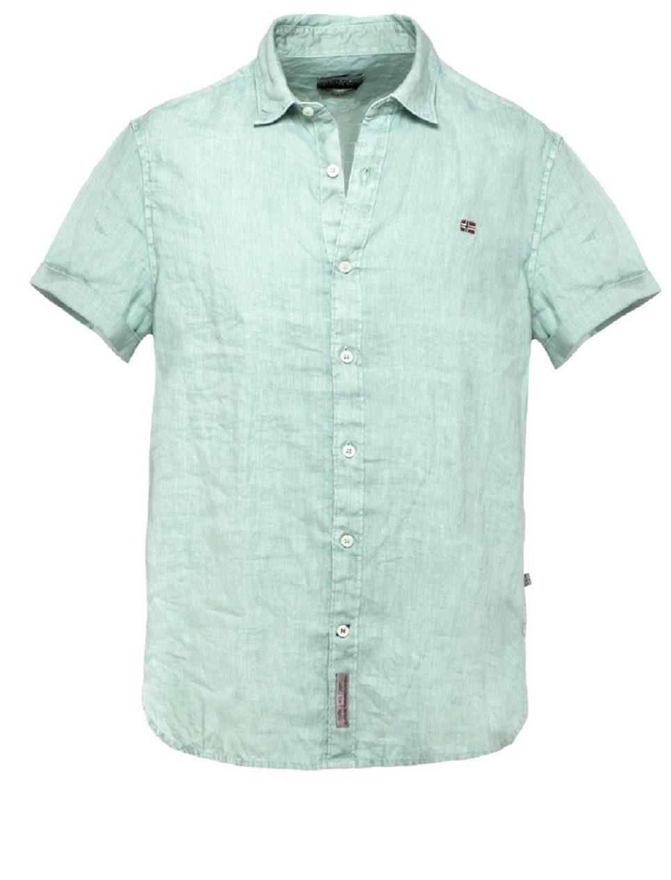NAPAPIJRI חולצה ירוקה מכופתרת