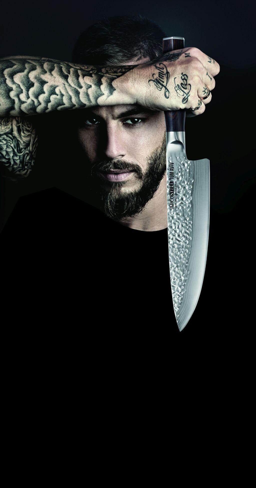 סכין שף ARCOSTEELבשיתוף השף טום אביב