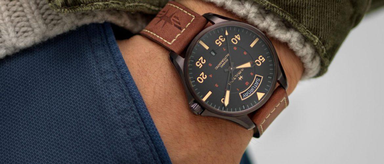 המילטון שעון חדש לגבר Hamilton Khaki Pilot Automatic