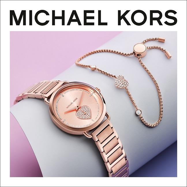 סט שעון וצמיד של מייקל קורס לחג האהבה